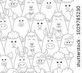 livestock. animals. seamless...   Shutterstock .eps vector #1029785230