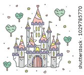 fairytale princess fantasy... | Shutterstock .eps vector #1029785770