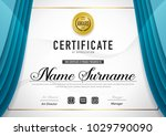 certificate template luxury and ... | Shutterstock .eps vector #1029790090