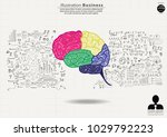 brain colorful   background... | Shutterstock .eps vector #1029792223