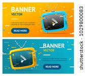 retro tv not found broadcasting ... | Shutterstock .eps vector #1029800083