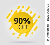 special offer sale yellow tag | Shutterstock .eps vector #1029800728