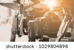 cinema camera on film set ...   Shutterstock . vector #1029804898