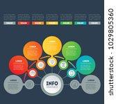vector infographic of... | Shutterstock .eps vector #1029805360