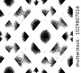 grunge halftone black and white ... | Shutterstock . vector #1029807016