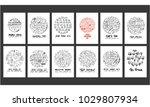 set of doodles vector.... | Shutterstock .eps vector #1029807934