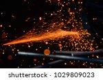 light from cutting steel    Shutterstock . vector #1029809023