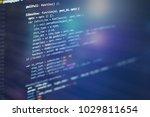 html web design code for...   Shutterstock . vector #1029811654