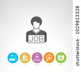 job and human resource icons | Shutterstock .eps vector #1029813328