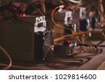 farm with equipment for bitcoin ... | Shutterstock . vector #1029814600