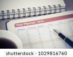 personal organizer or planner... | Shutterstock . vector #1029816760