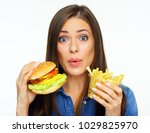 cheat meal burger day with... | Shutterstock . vector #1029825970