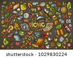 colorful vector hand drawn... | Shutterstock .eps vector #1029830224