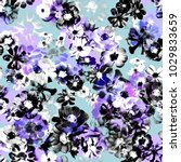seamless graphical photo floral ... | Shutterstock . vector #1029833659
