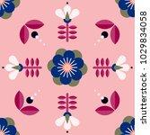 beautiful floral pattern in...   Shutterstock .eps vector #1029834058