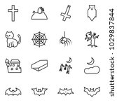 flat vector icon set   cross... | Shutterstock .eps vector #1029837844