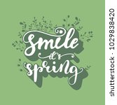 """smile it's spring"" lettering... 
