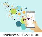 communication technology device ... | Shutterstock .eps vector #1029841288