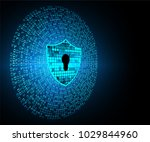 safety concept  closed padlock... | Shutterstock .eps vector #1029844960