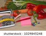 concept of diet. low calorie... | Shutterstock . vector #1029845248