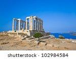 Poseidon Temple At Cape Sounio...
