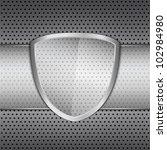 transparent glass shield on... | Shutterstock .eps vector #102984980