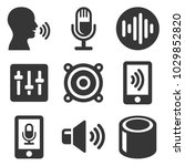 voice smart devices with sound... | Shutterstock .eps vector #1029852820