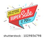 super sale  weekend special... | Shutterstock .eps vector #1029856798