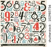 various retro vintage number... | Shutterstock .eps vector #102985736