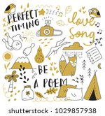 various object in doodle style   Shutterstock .eps vector #1029857938