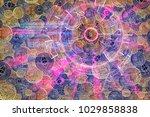 laser light cyber hud with... | Shutterstock . vector #1029858838
