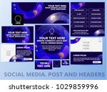 social media posts  header ... | Shutterstock .eps vector #1029859996