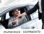 portrait of happy customer... | Shutterstock . vector #1029860470