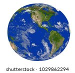 earth globe on a white... | Shutterstock . vector #1029862294