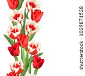 Seamless Border With Red And...