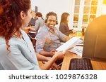 indian call center operator... | Shutterstock . vector #1029876328