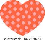 random dot heart.eps this is a...   Shutterstock .eps vector #1029878344