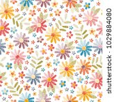 embroidery seamless pattern.... | Shutterstock .eps vector #1029884080