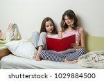 two teenage girls in their... | Shutterstock . vector #1029884500