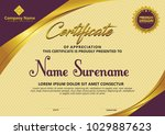 certificate template with... | Shutterstock .eps vector #1029887623