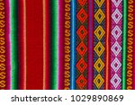 traditional andean tapestry... | Shutterstock . vector #1029890869