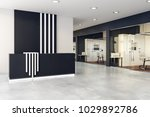 modern reception desk with copy ... | Shutterstock . vector #1029892786