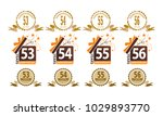 ribbon anniversary template set | Shutterstock .eps vector #1029893770