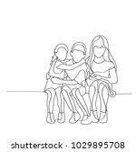 vector  sketch of children... | Shutterstock .eps vector #1029895708