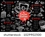 coffee house menu. restaurant... | Shutterstock .eps vector #1029902500