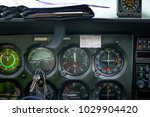 detail of old airplane cockpit. ... | Shutterstock . vector #1029904420