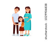 portrait of young happy family... | Shutterstock .eps vector #1029906838