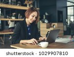 asian business woman working in ... | Shutterstock . vector #1029907810