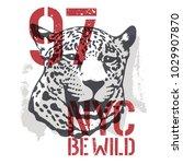 leopard t shirt graphics.... | Shutterstock .eps vector #1029907870