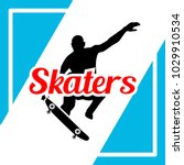 skaters illustration design | Shutterstock .eps vector #1029910534